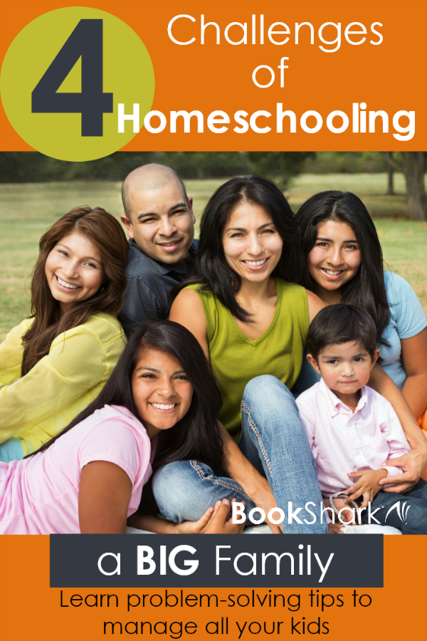 4 Challenges of Homeschooling a Big Family