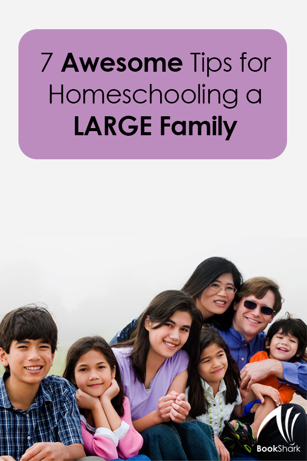 7 Awesome Tips for Homeschooling a Large Family