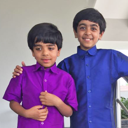 Shruti Gupta's two sons Arjun and Kabir