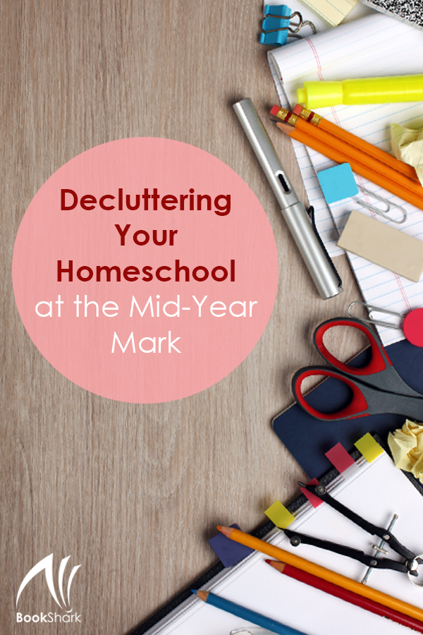Decluttering Your Homeschool at the Mid-Year Mark