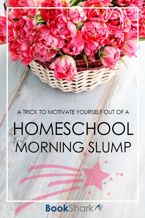 A Trick to Motivate Yourself Out of a Homeschool Morning Slump