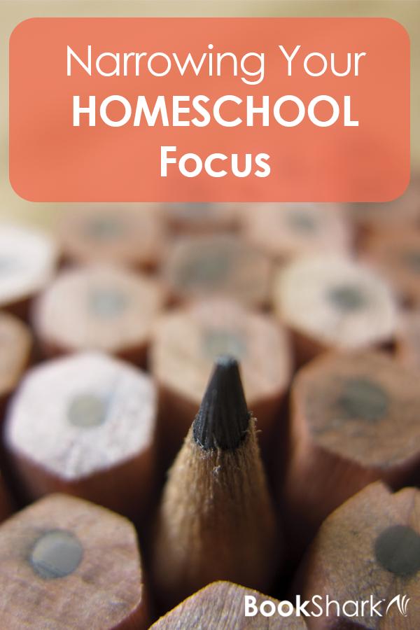 Narrowing Your Homeschool Focus • homeschool goal setting