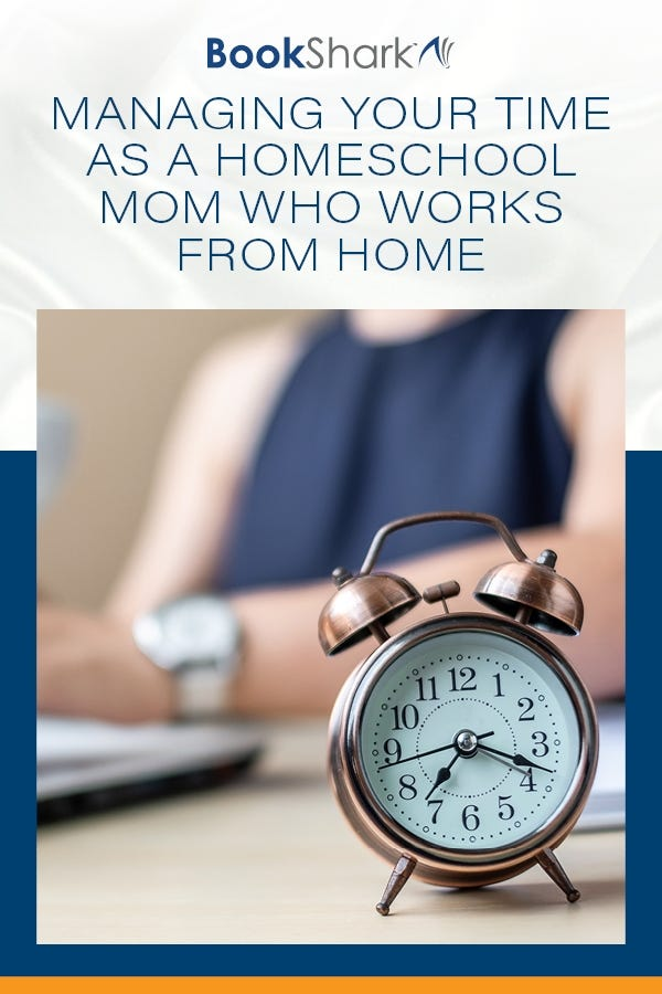 Managing Your Time as a Homeschool Mom Who Works from Home