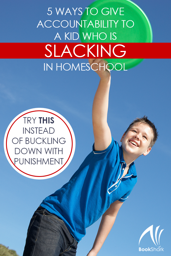 5 Ways to Give Accountability to a Kid Who is Slacking in Homeschool