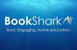 Bookshark Logo with Ocean Background