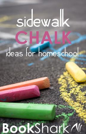 Sidewalk Chalk Ideas for Homeschool Learning
