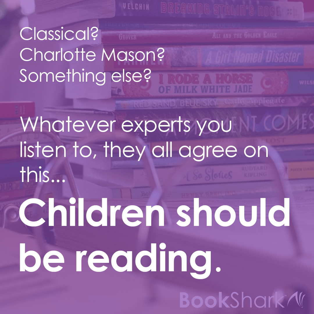 The one thing all experts and philosophers agree on is that children should be reading. They vary somewhat in the application of the reading habit, but not in the method.