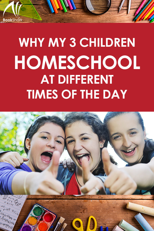 Why My Three Children Homeschool at Different Times of the Day