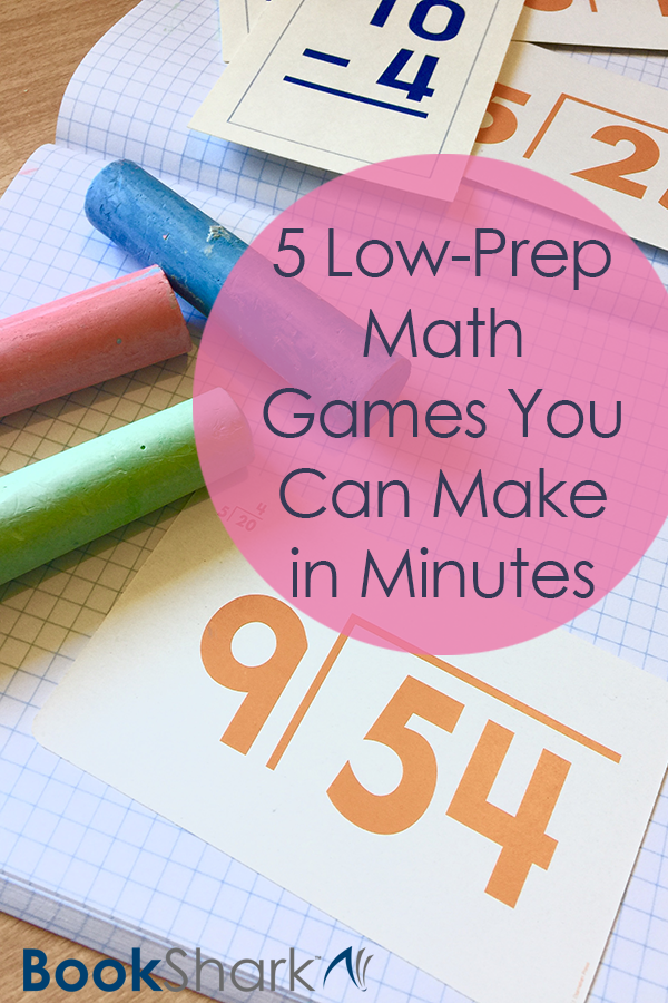 5 Low-Prep Math Games You Can Make in Minutes • homeschool math activities