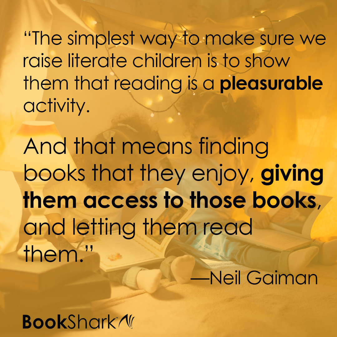 finding books that they enjoy, giving them access to those books, and letting them read them