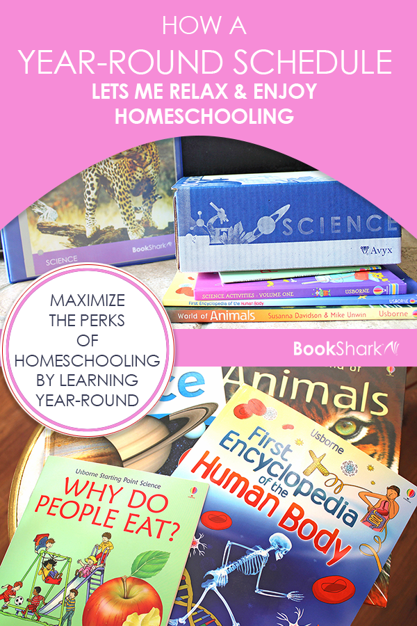 How a Year-round Schedule Lets Me Relax and Enjoy Homeschooling